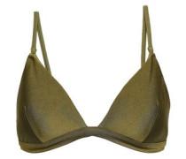 Metallic Triangle Bikini Top Army Green Size 1 A