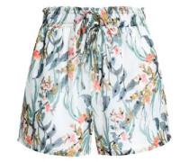Fil coupé floral-print mousseline shorts
