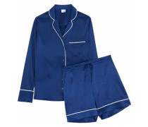 Dylan silk-blend satin pajama set