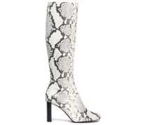 Moulin Snake-effect Leather Boots Animal Print