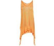 Woman Draped Knitted Top Orange