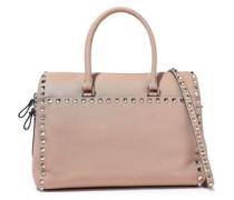 Rockstud Pebbled-leather Tote Blush Size --