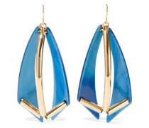 Gold-tone Acetate Earrings Azure Size --