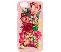 Embellished Floral-print Textured-leather Iphone 7 Case Baby Pink Size --