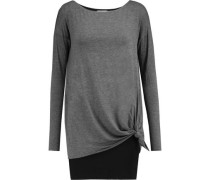 Knotted stretch-knit top