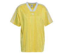 Embroidered Stretch-jersey T-shirt Bright Yellow