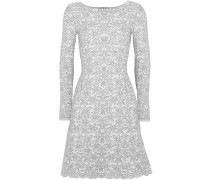 Woman Wool-blend Jacquard Mini Dress Gray