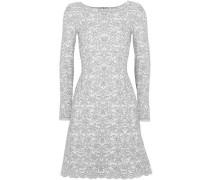 Wool-blend Jacquard Mini Dress Gray