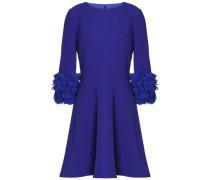 Appliquéd crepe mini dress