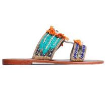 Pallas Embellished Suede Sandals Multicolor