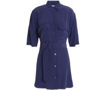 Silk mini shirt dress