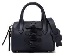 Vere Barrel mini appliquéd leather tote