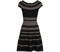 Stretch jacquard-knit dress