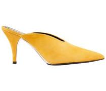 Woman Roslynn Suede Mules Saffron