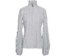 Striped Cotton-jacquard Shirt White