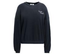 Embroidered dégradé cotton-fleece sweatshirt