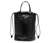 Faux Leather Bucket Bag Black Size --