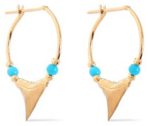 18-karat gold turquoise earrings