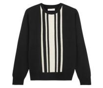 Striped intarsia merino wool sweater
