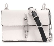Hook Two-tone Pebbled-leather Shoulder Bag White Size --