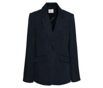 Pinstriped crepe blazer