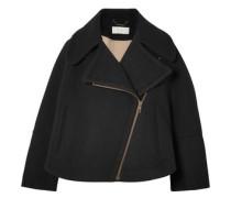 Oversized Wool-blend Coat Black