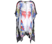 Draped Printed Georgette Blouse Off-white