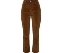 Corduroy Straight-leg Pants Brown  3