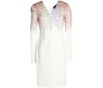 Crystal-embellished stretch-jersey dress