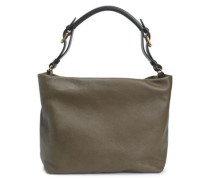 Woman Maxi Strap Pebbled-leather Shoulder Bag Army Green
