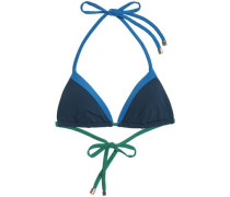 Savannah Sunset color-block triangle bikini top