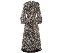 Leopard-print Silk-chiffon Midi Dress Animal Print