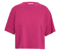 Cotton Slub-jersey T-shirt Fuchsia