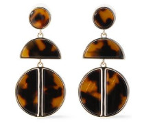 24-karat Gold-plated Tortoiseshell Acrylic Earrings Light Brown Size --
