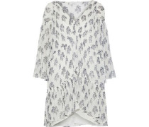Evelyn Printed Silk-georgette Mini Dress Ivory