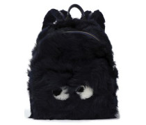 Eyes leather-trimmed shearling backpack