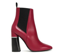 Drum Leather Ankle Boots Burgundy