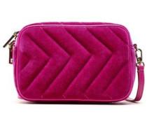 Quilted Velvet Belt Bag Fuchsia Size --