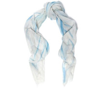 Elvire printed cotton-gauze scarf