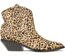 Tacy Leopard-print Calf Hair Ankle Boots