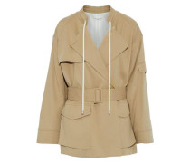 Belted cotton-gabardine jacket