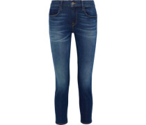 Gabrielle Cropped Mid-rise Skinny Jeans Mid Denim  7