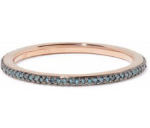 Skinny Eternity 18-karat rose gold-plated sterling silver diamond ring