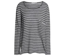 Striped cashmere and silk-blend sweater