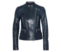 Sydney Leather Biker Jacket Petrol