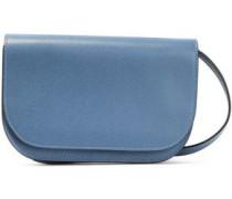 Woman Textured-leather Shoulder Bag Azure