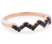 Rose gold-plated crystal ring