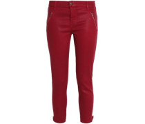 Cropped stretch skinny pants