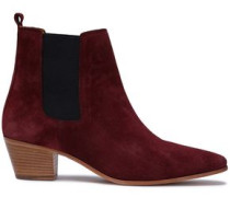 Yvette Suede Ankle Boots Burgundy