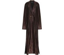Wrap-effect Lamé Gown Bronze